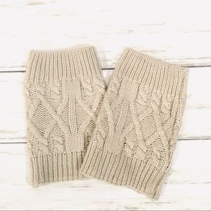 Short Cable Knit boot cuffs